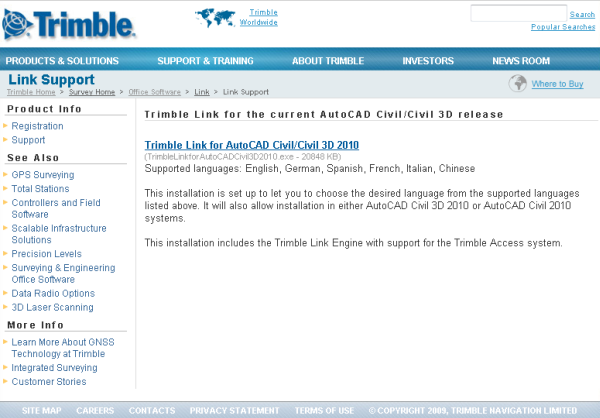 From the Ground Up: Trimble Link for 2010 released