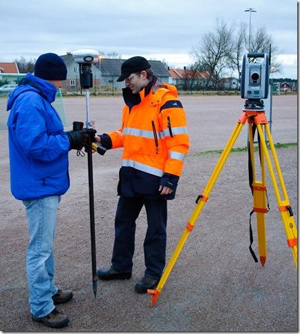 Inmätning med Trimbleutrutning i Björlanda med Thomas Nilsson 2009