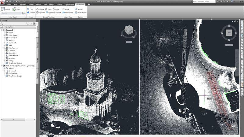 Point Cloud Shape Extraction AutoCAD Civil 3D