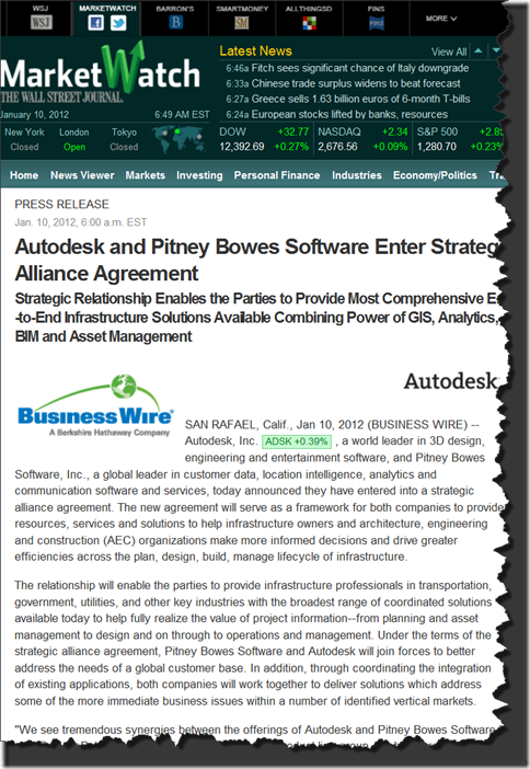 From The Ground Up Autodesk And Pitney Bowes Software Enter